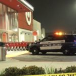 Police cruiser outside Target store