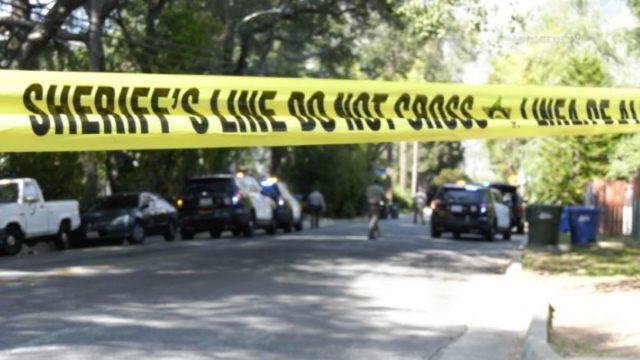 Crime scene tape in Altadena