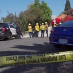 Police outside home in Encino