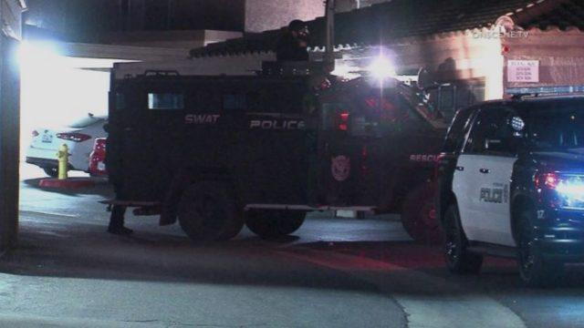 Pomona Police SWAT vehicle