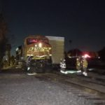 Paramedics at scene of freight train collision