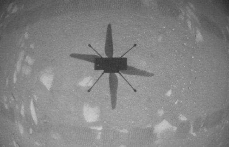 Ingenuity's shadow on Mars