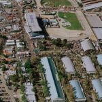 Aerial view of Pomona Fairplex