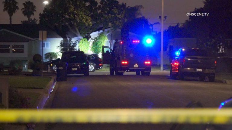 Crime scene tape in Downey