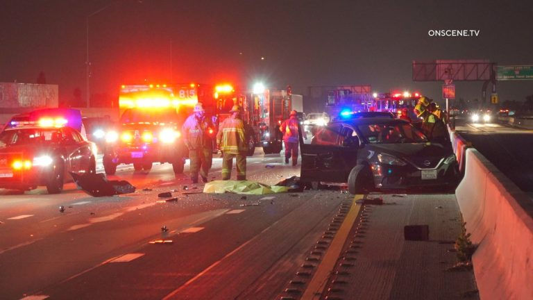 Harbor Freeway crash