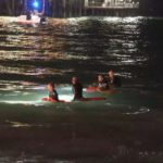 Lifeguards search for missing swimmer