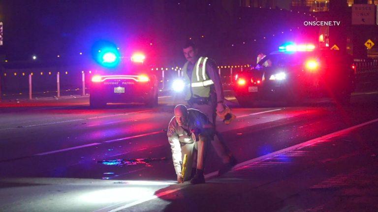 CHP officers at crash scene