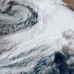 Satellite view of storm